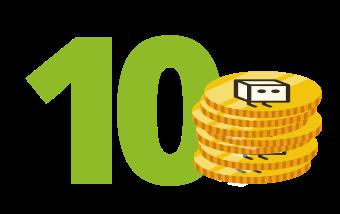 10 credito spedizione